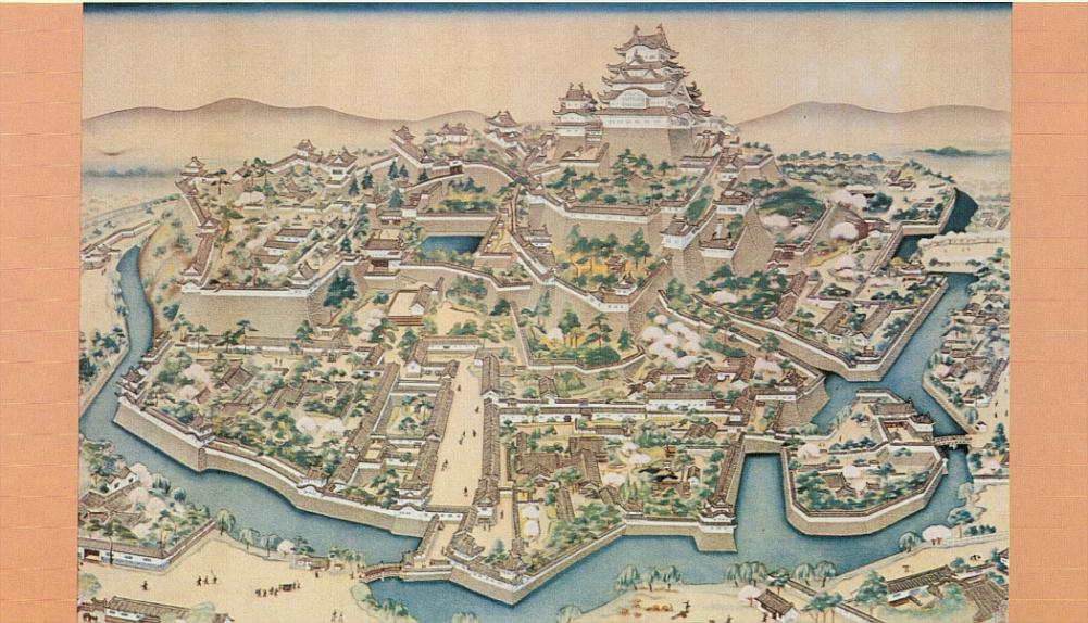 old_painting_of_himeji_castle